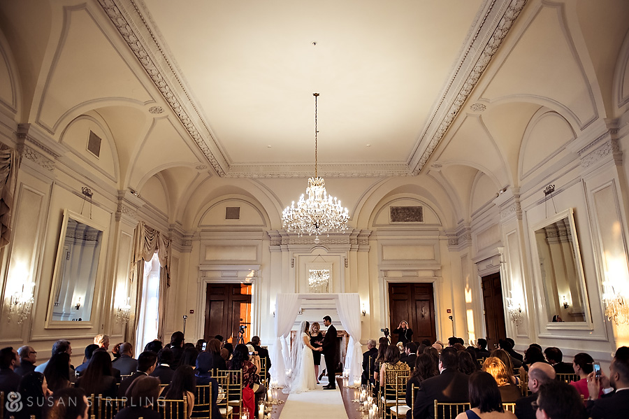 Ceremony at an Oheka Castle wedding