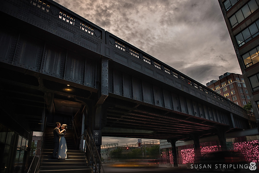 wedding photos on the high line