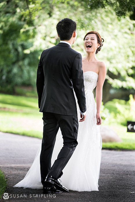 brooklyn botanical garden wedding first look