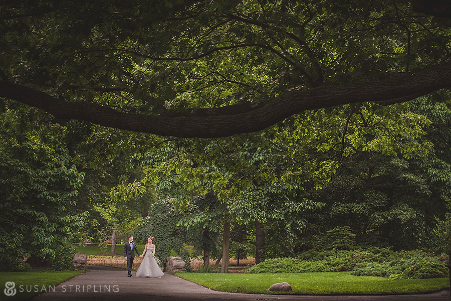 brooklyn botanical garden wedding portraits