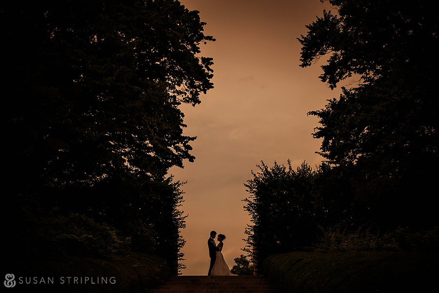 brooklyn botanical garden wedding sunset