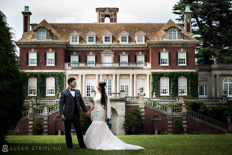 wedding photo session at Old Westbury Gardens