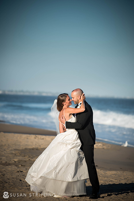 Ocean House wedding on the beach