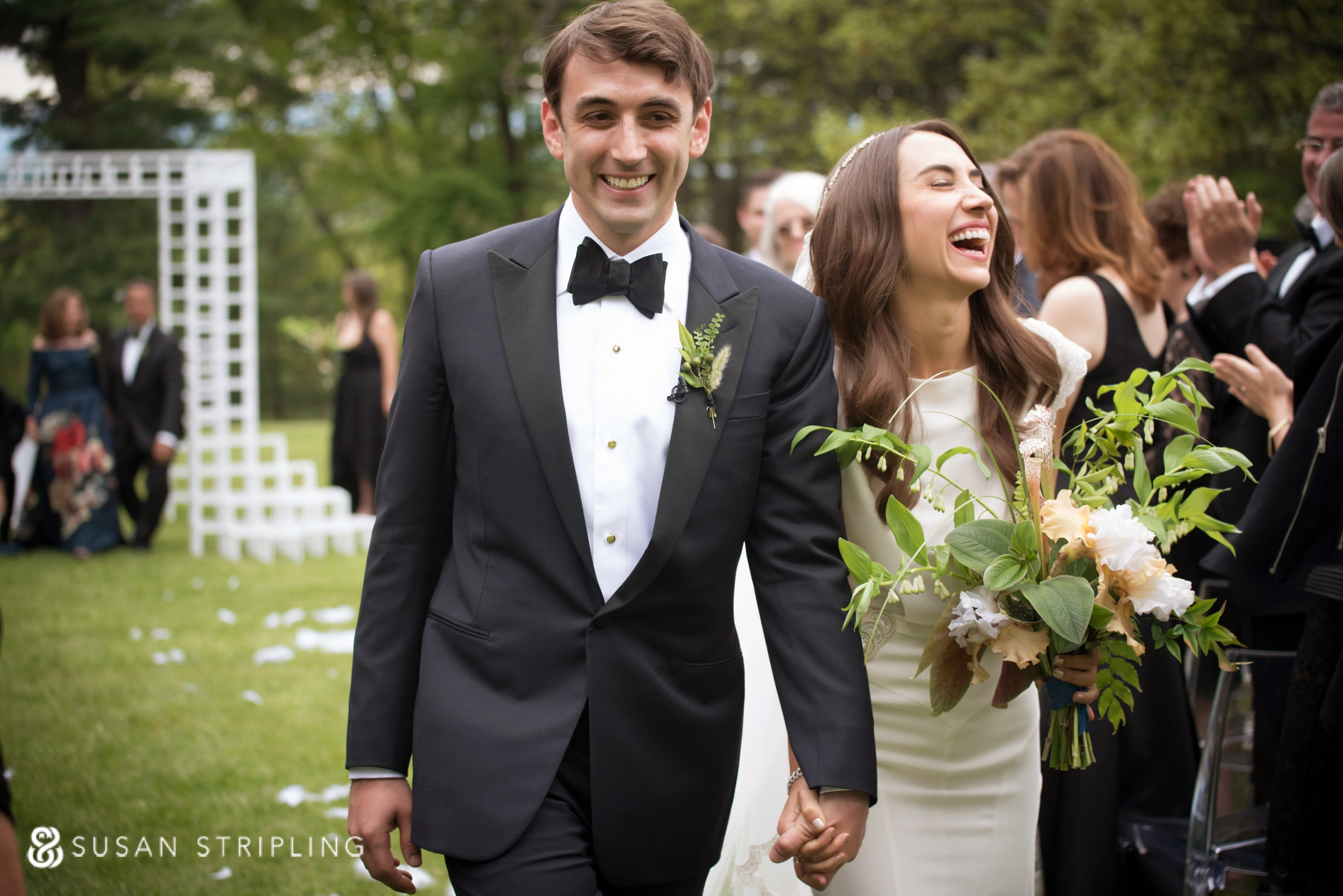 The Hill in Hudson wedding ceremony recessional