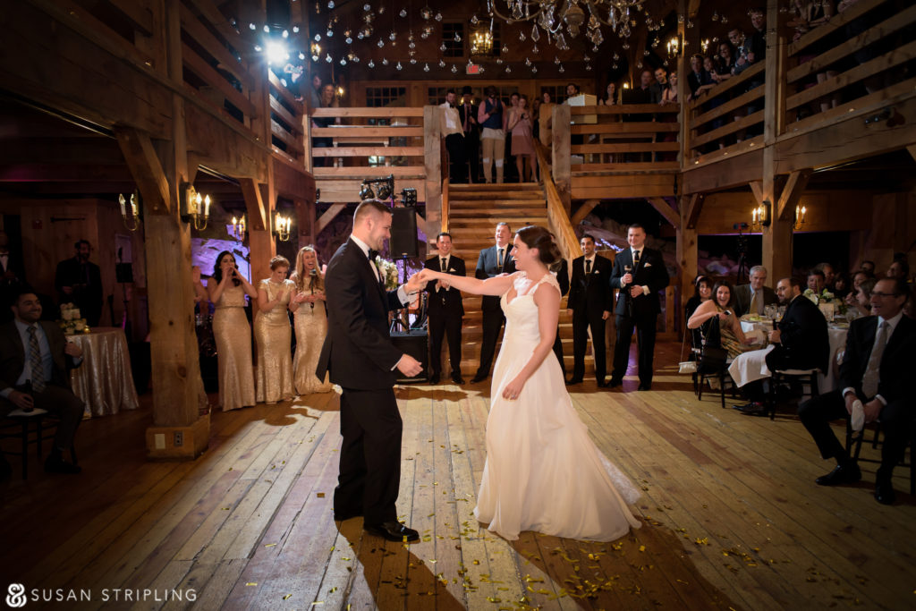 first dance at wedding at the red lion inn