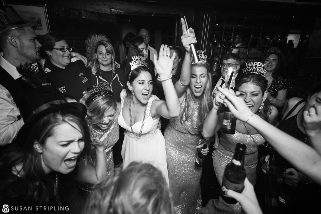 party at wedding at the red lion inn
