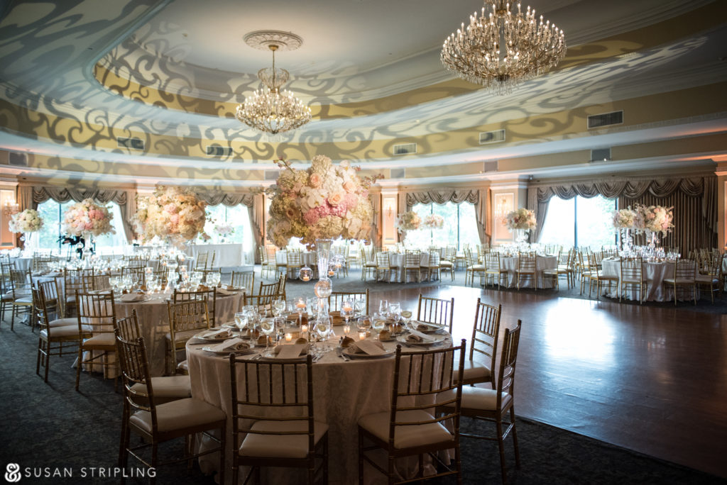 reception decor at oheka castle