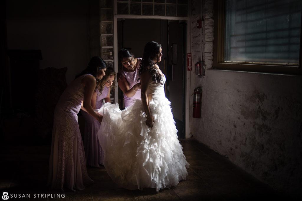 Wedding at Angel Orensanz bridal getting ready room