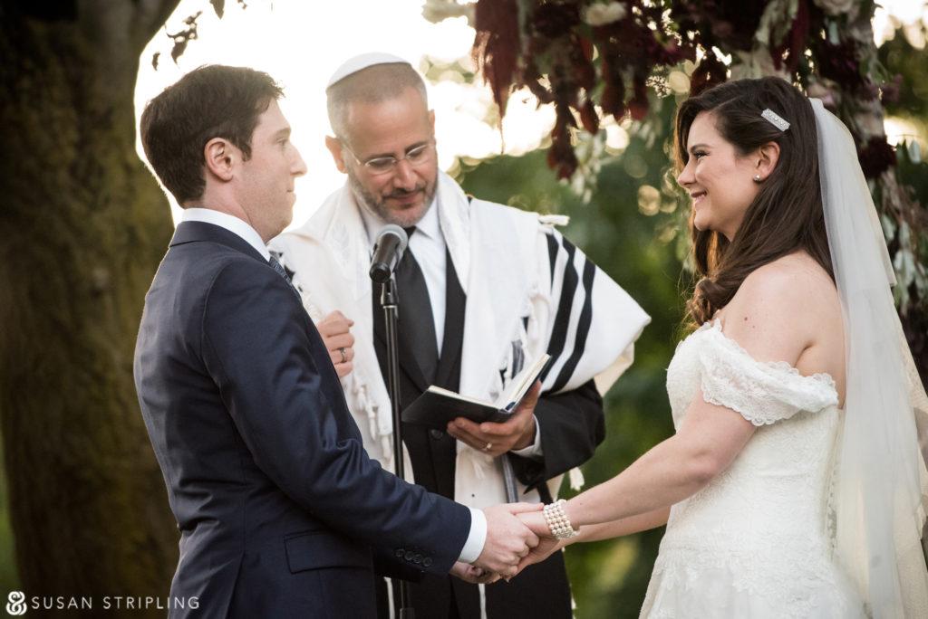Fall Wedding at the Brooklyn Botanic Garden ceremony