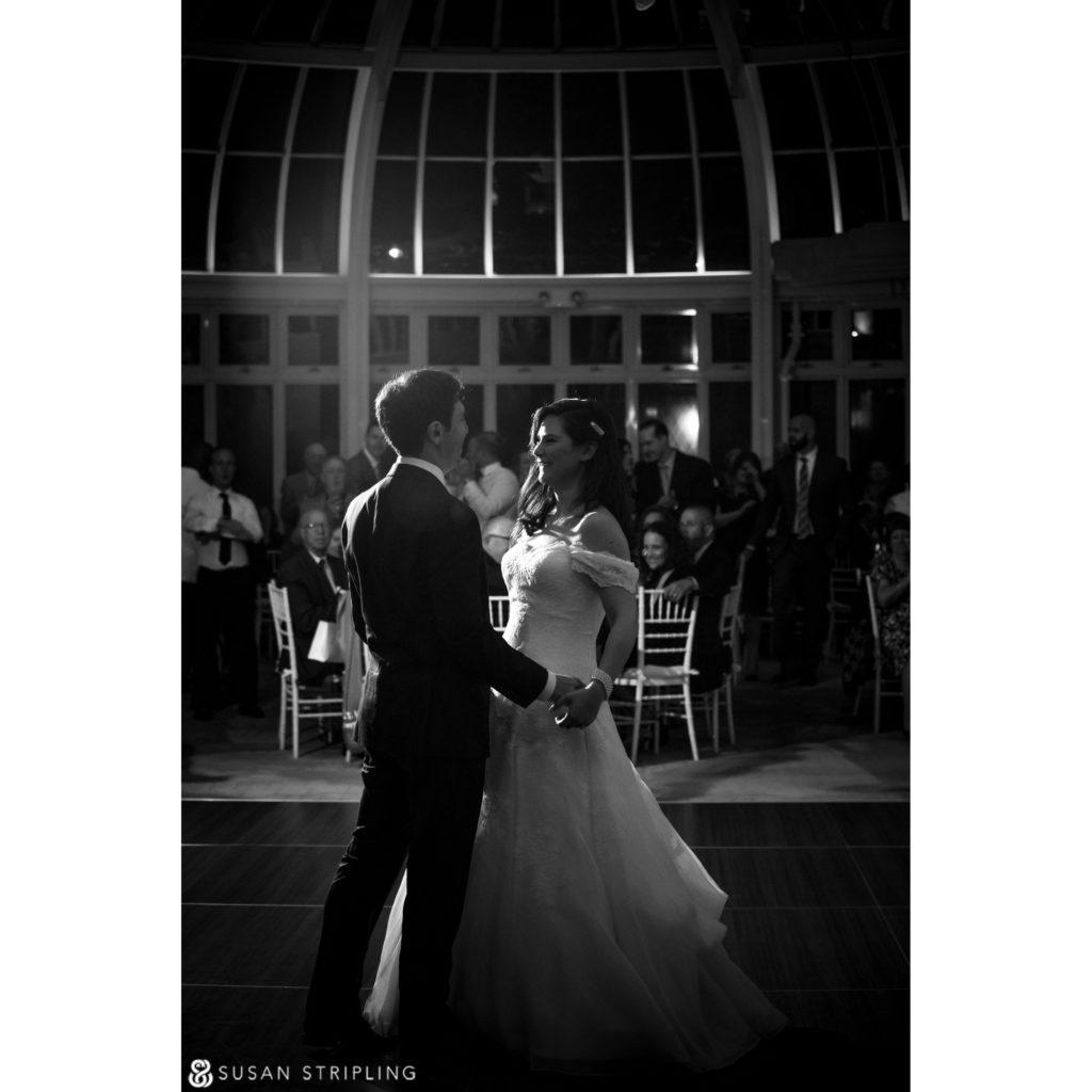 Fall Wedding at the Brooklyn Botanic Garden reception
