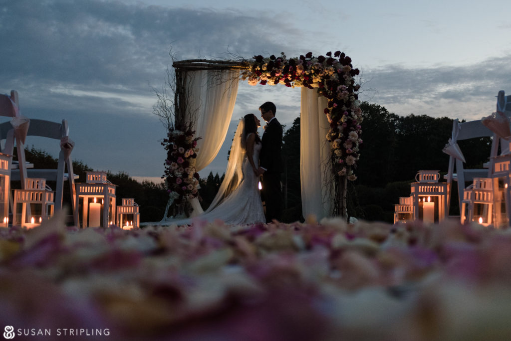 Outdoor Wedding at Oheka Castle photographer