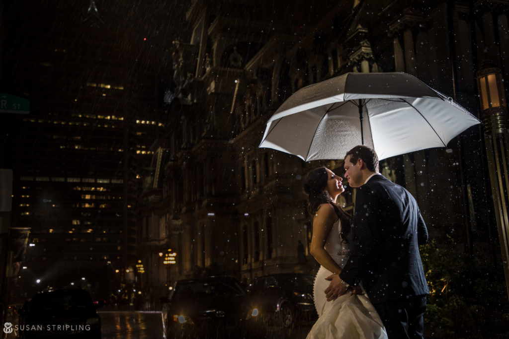 broad street shot philly wedding