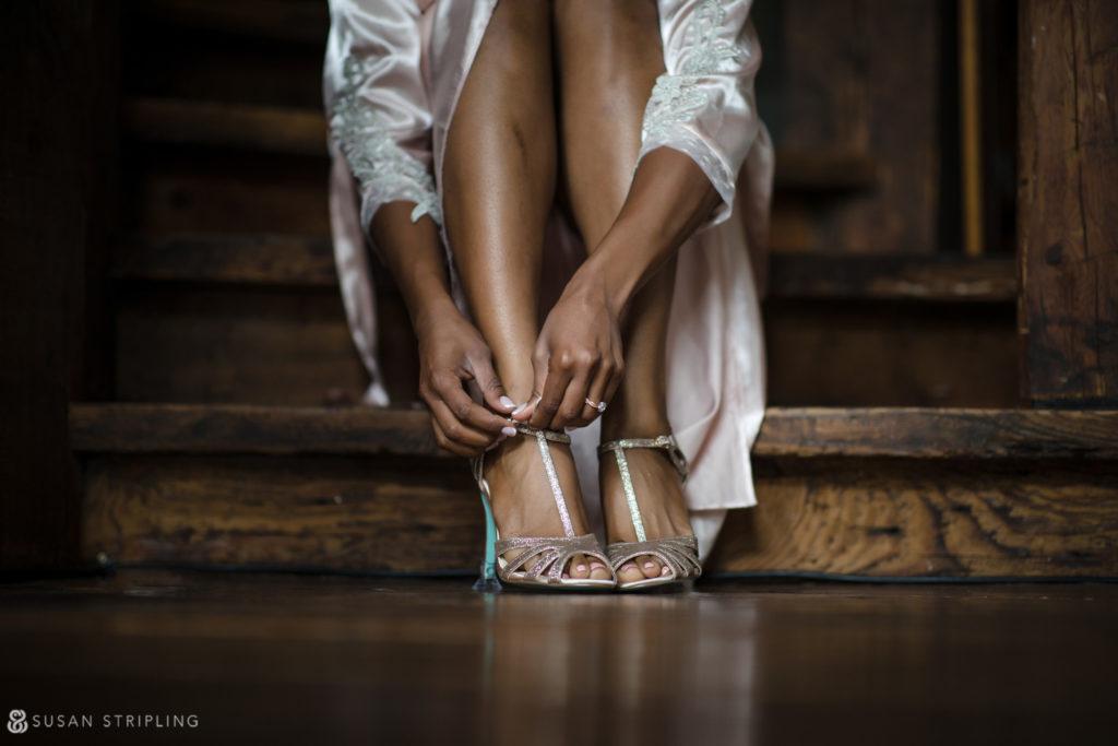 Summer Wedding at Riverside Farm shoes