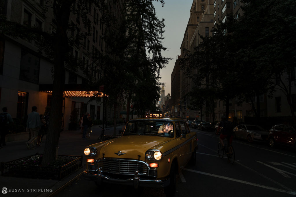 gramercy park hotel wedding with a vintage cab from film cars