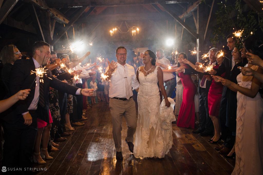 sparklers riverside farm wedding