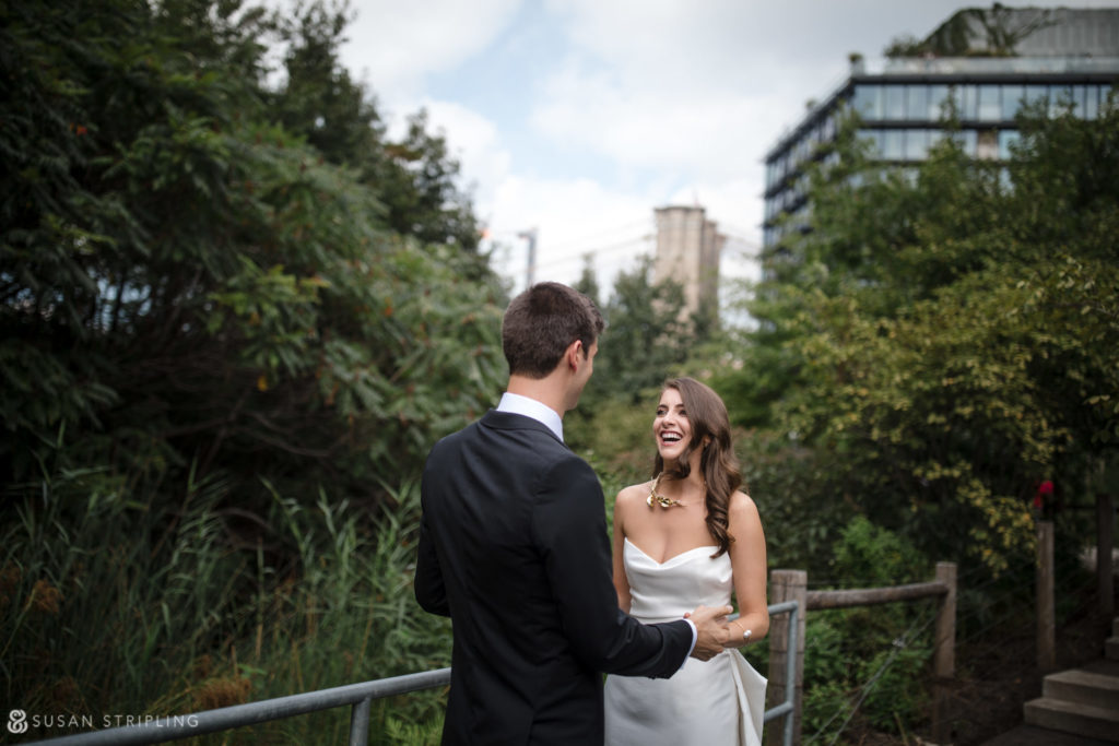 first look locations for a 1 hotel brooklyn bridge wedding