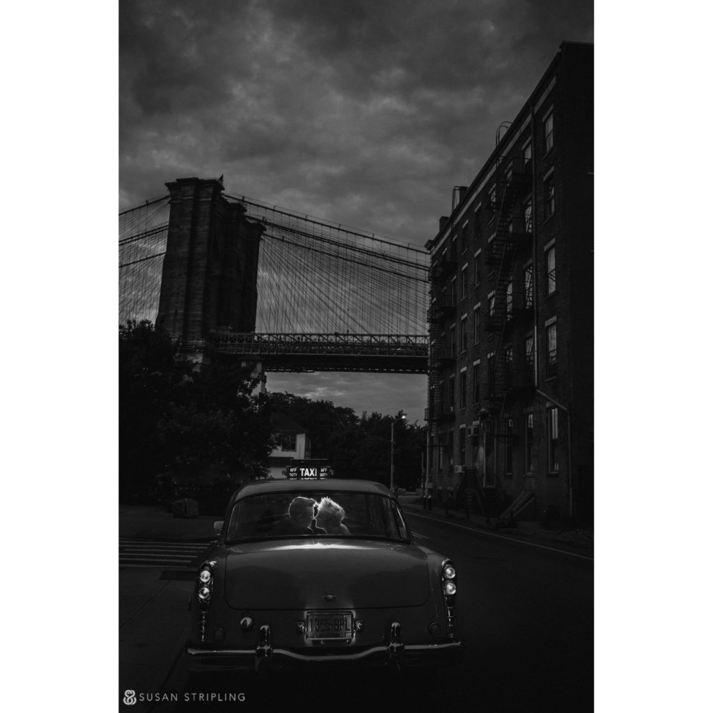 wedding photos under the manhattan bridge dumbo