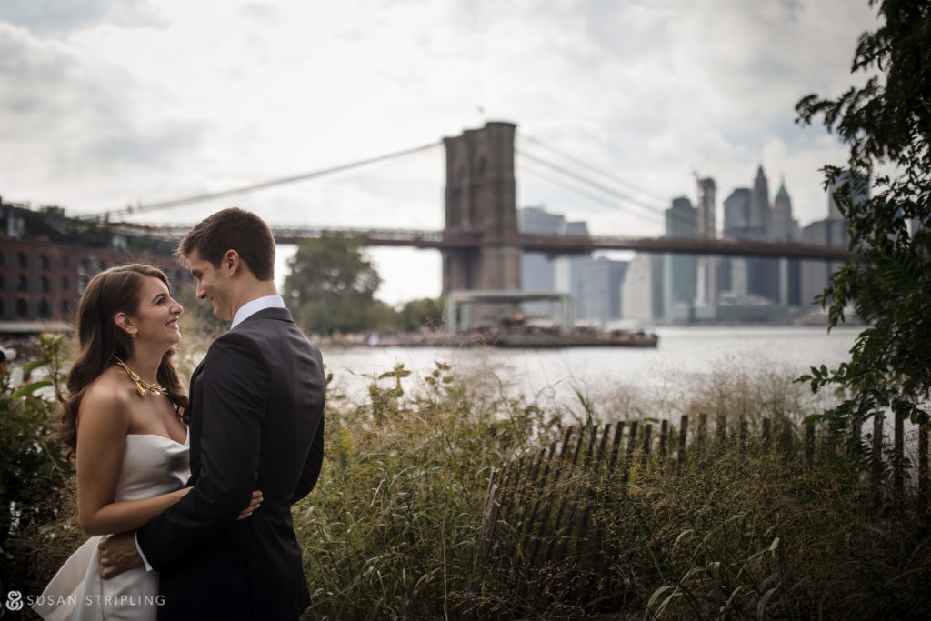 photo locations at a 1 hotel brooklyn bridge wedding