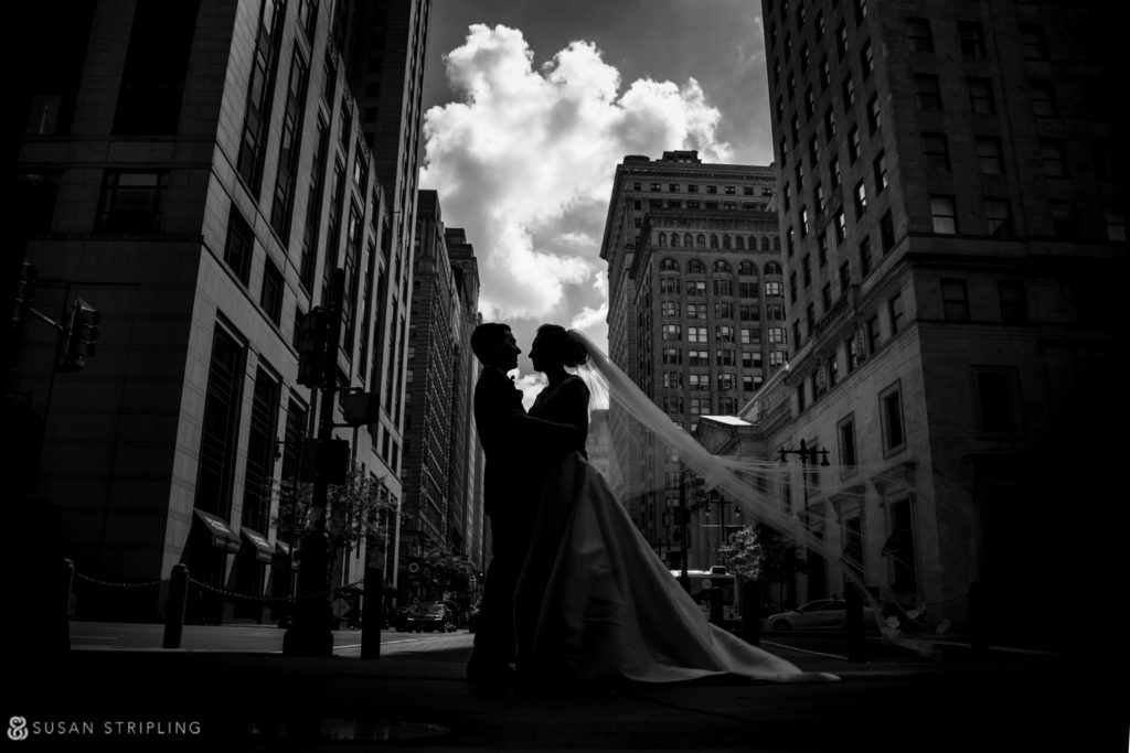 unique wedding day portrait in philadelphia
