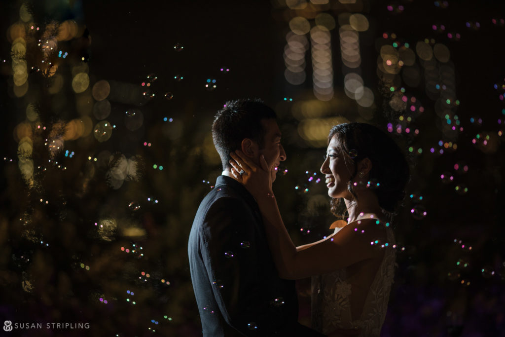 manahattan rooftop wedding pictures at night