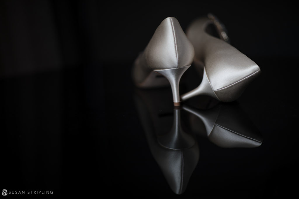 silk satin wedding shoes
