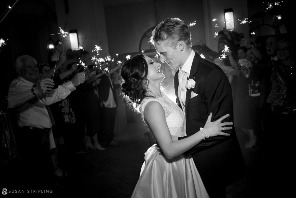 sparkler exit at the alfond inn