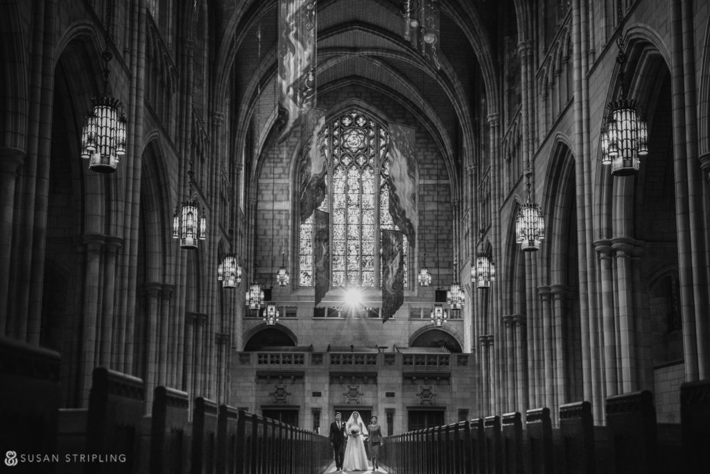 princeton chapel wedding photo