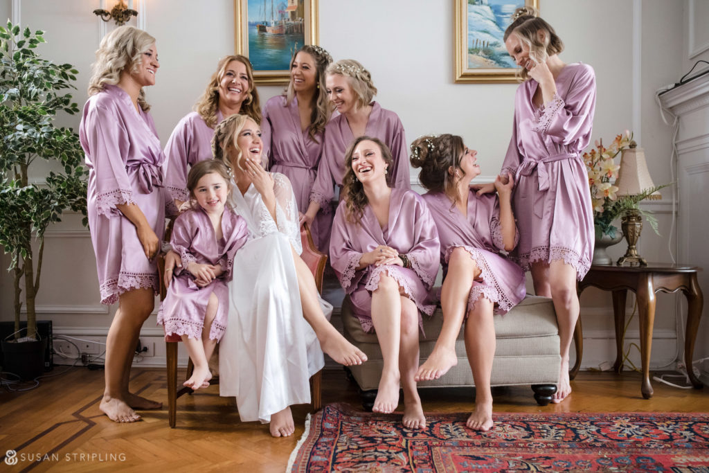 loews philly wedding bridal robe shot