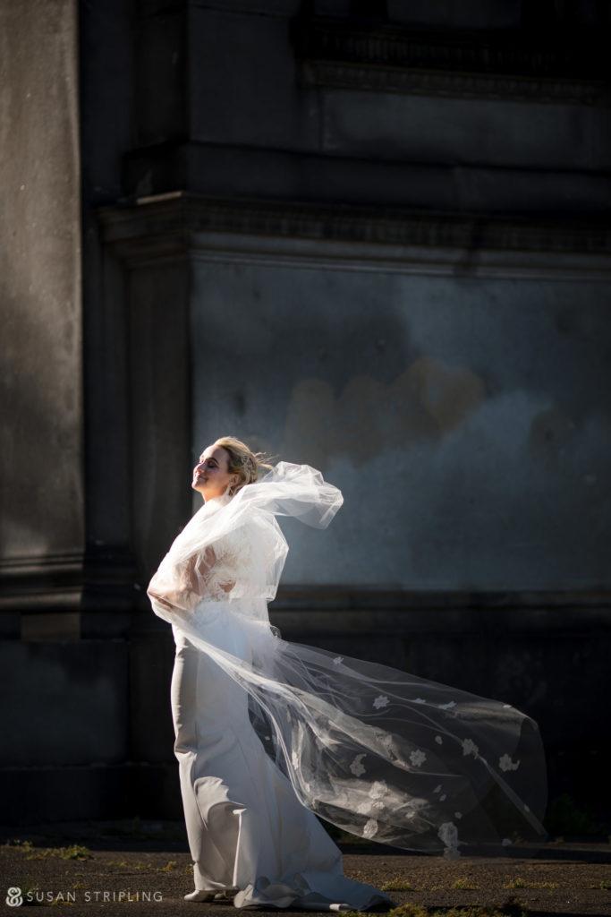 bridal portrait fairmount park philly