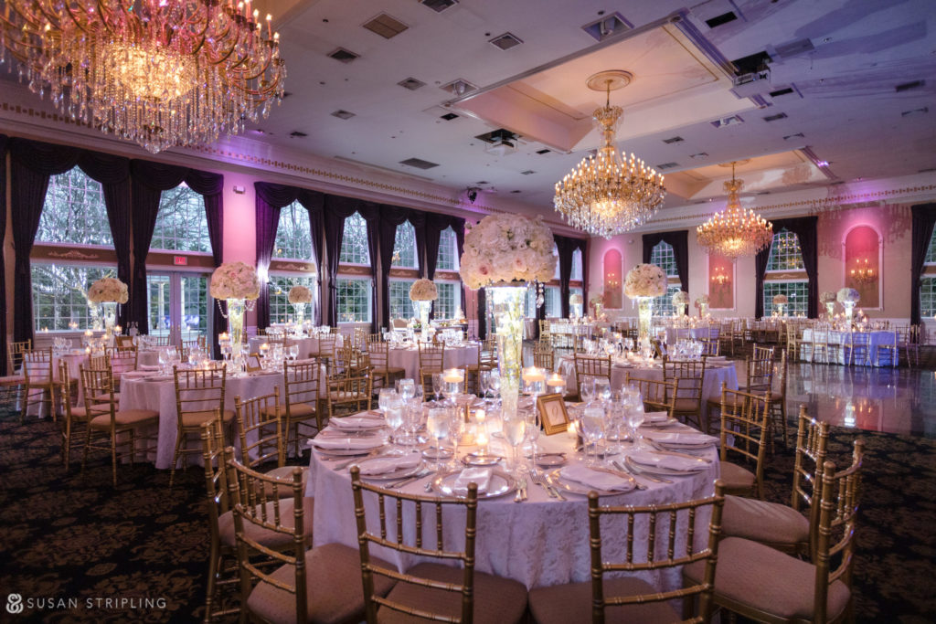 estate at florentine gardens wedding reception room