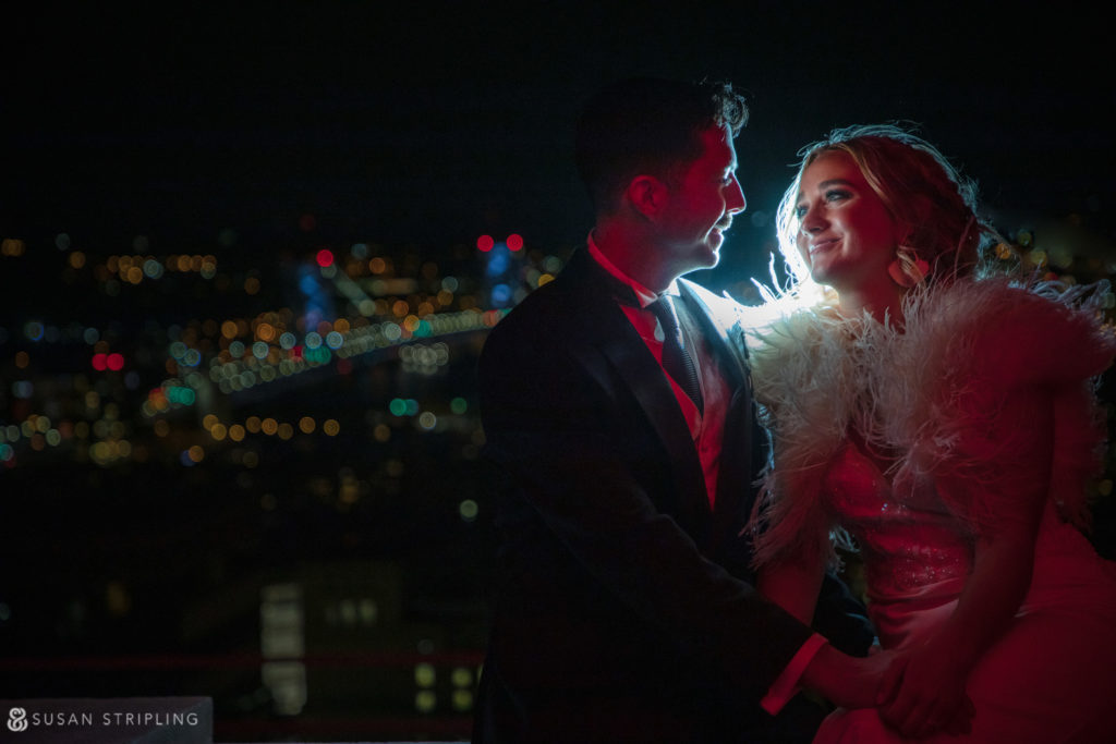 rooftop photos loews philadelphia wedding