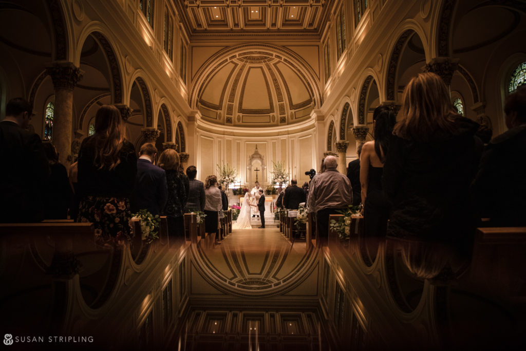 Pleasantdale Chateau church ceremony