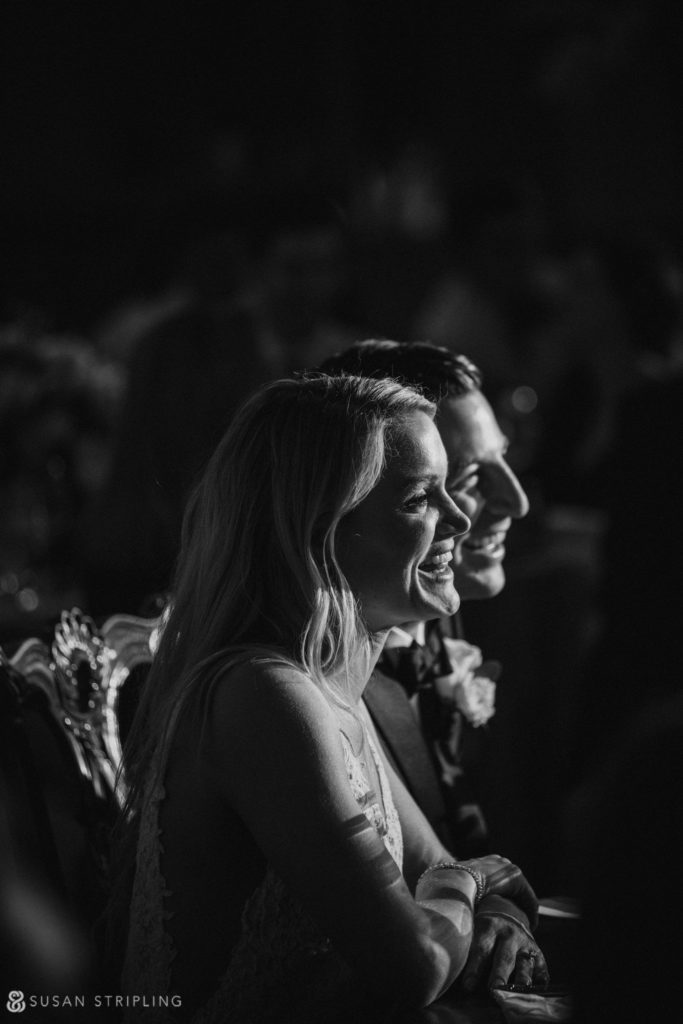 Black and white Pleasantdale Chateau wedding photos