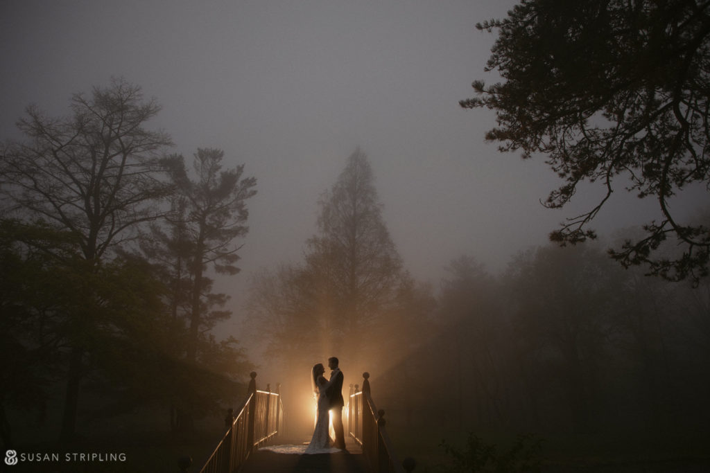 Rainy wedding at Pleasantdale Chateau
