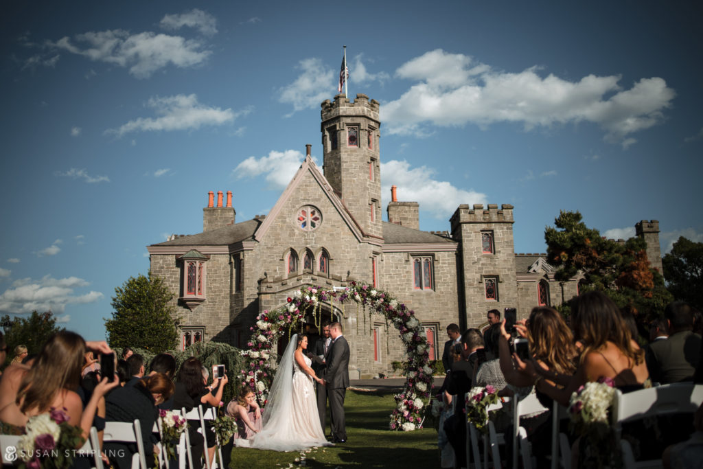 outdoor ceremony location lessings whitby castle wedding