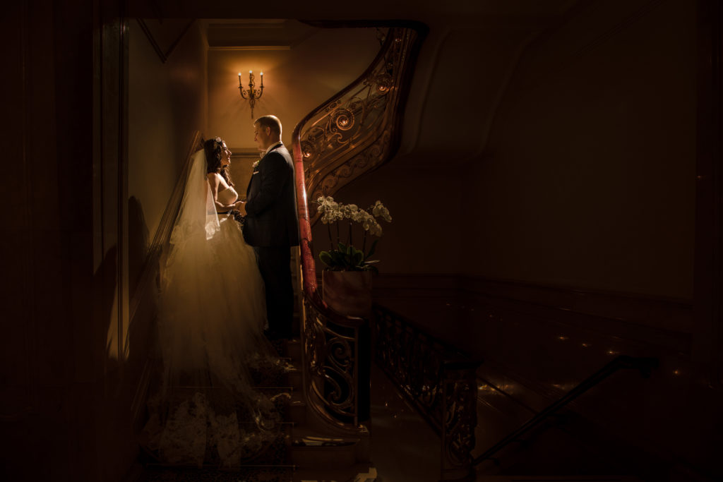 St. Regis New York City Wedding Staircase