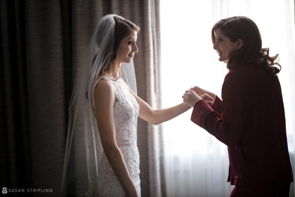 Philly Ritz Carlton Hotel wedding getting ready room