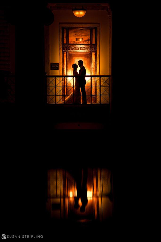 Philly Ritz Carlton Hotel wedding balcony wedding pictures