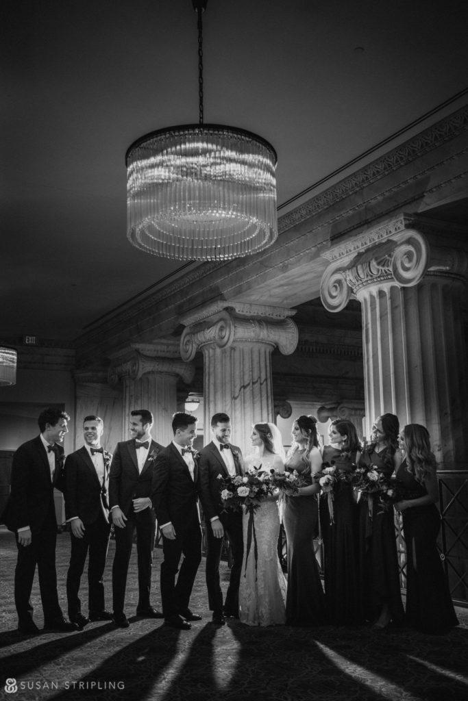 Philly Ritz Carlton Hotel wedding balcony level photos